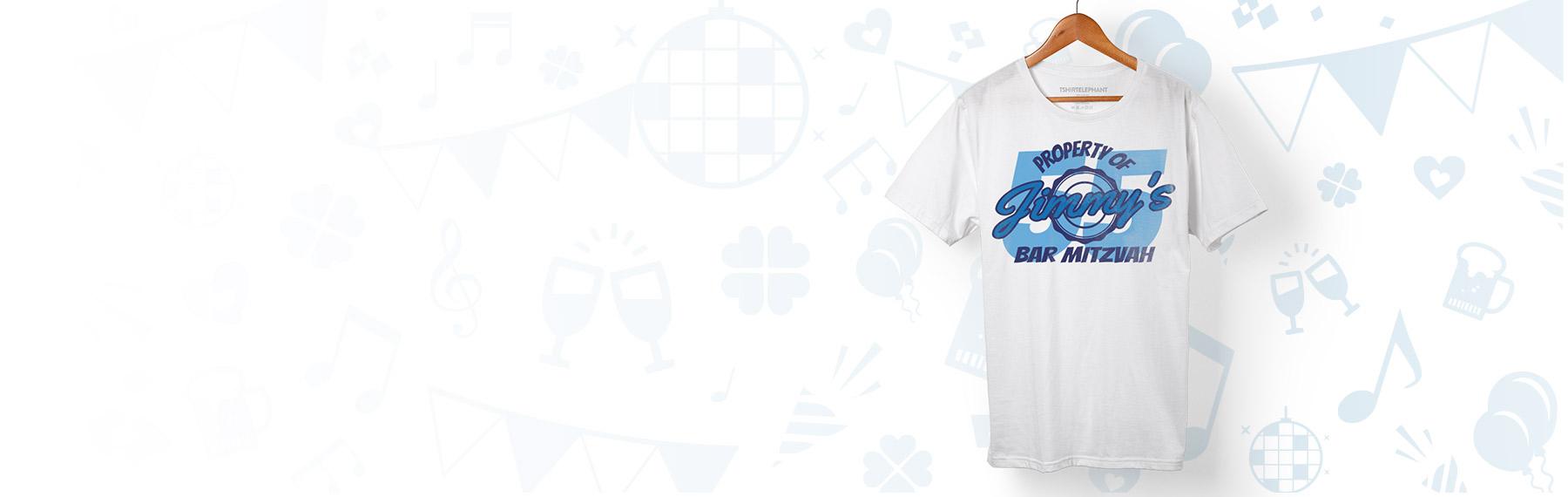 Custom bar mitzvah t shirts design online for Custom bar t shirts