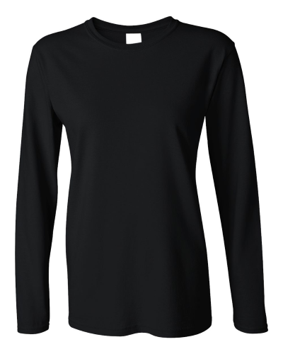 Ladies Heavy Cotton Long Sleeve T-Shirt front Image