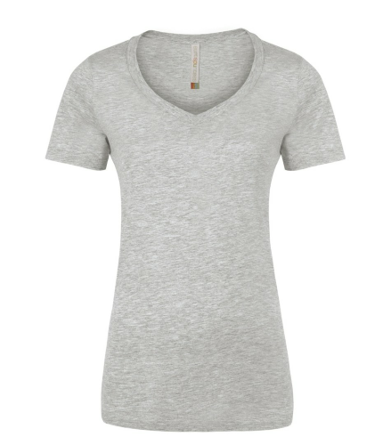 970f3bd8b42d7c Athletic Grey RING SPUN V-NECK LADIES  TEE.