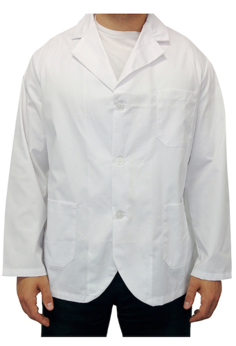 Short Lab Coat front Image