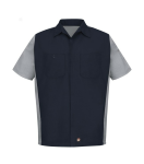 Short Sleeve Woven Crew Shirt front Thumb Image