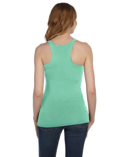 Ladies' Triblend Racerback Tank back Image
