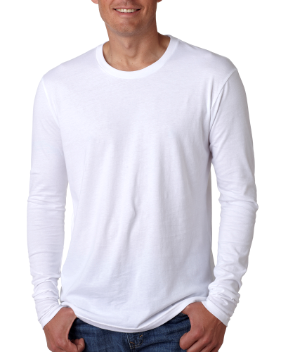 Men's Premium Fitted Long-Sleeve Crew Tee front Image