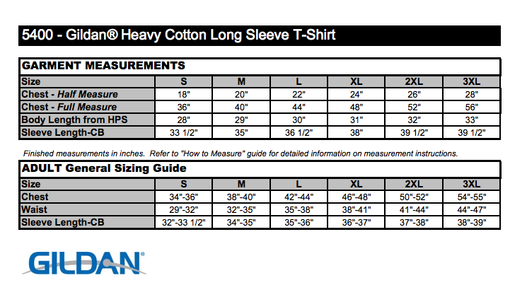 Red heavy cotton long sleeve t shirt t shirts elephant for Gildan brand t shirt size chart