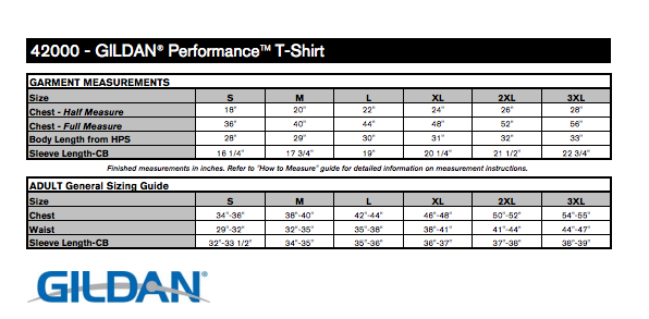 Black performance t shirt t shirts elephant for Gildan brand t shirt size chart