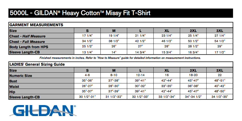 Black ladies missy fit t shirt t shirts elephant for Gildan brand t shirt size chart