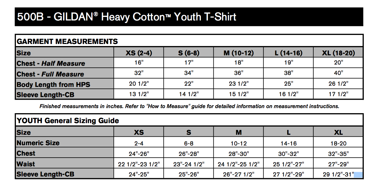 Light blue heavy cotton youth t shirt t shirts elephant for Gildan brand t shirt size chart